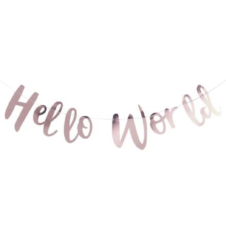 'Hello World' Rose Gold Garland